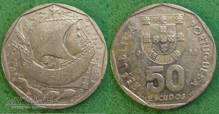 Portugalia, 50 ESCUDOS 1988