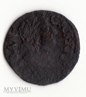 Duże zdjęcie Szeląg koronny (boratynka) Jana II Kazimierza