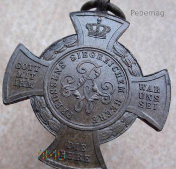 Medal PREUSSENS SIEGREICHEM HEERE 1866 Brąz