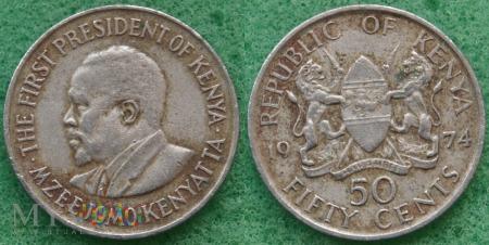 Kenia, 50 cents 1974