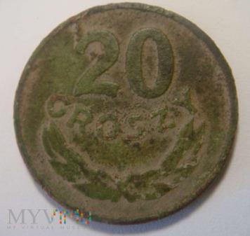 20 groszy 1949 miedź