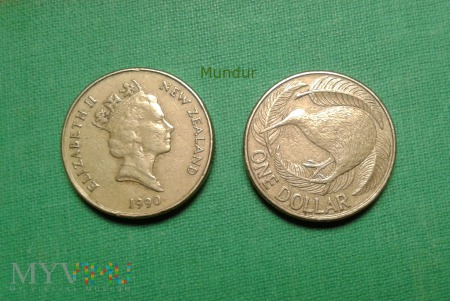 Moneta nowozelandzka: one dollar NZ