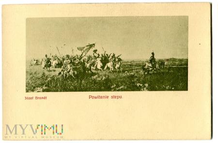 Duże zdjęcie Powitanie stepu, Józef Brandt, c. 1910