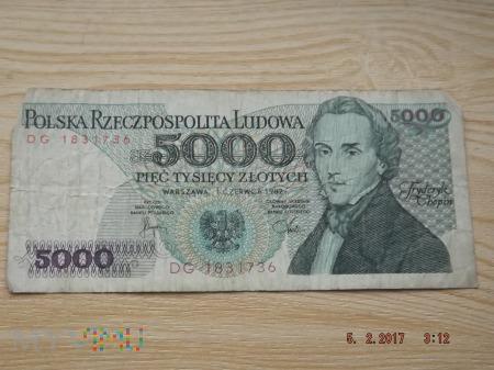 5000 złotych