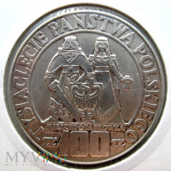 Duże zdjęcie 100 złotych - 1966 r. Polska