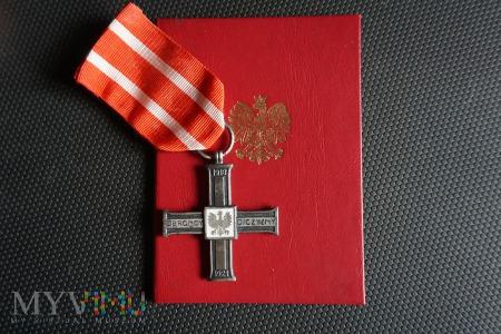 Legitymacja i Krzyż za udział w Wojnie 1918–1921