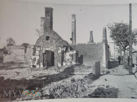 spalone domy w Rawie 1939