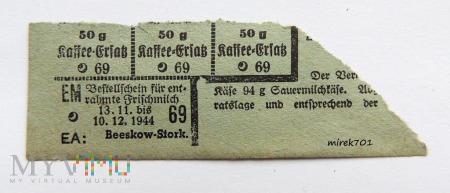 Kartka żywnościowa 1944