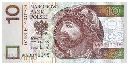 Polska - 10 złotych (1994)