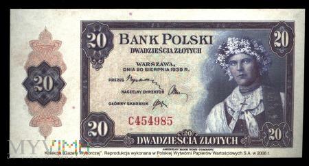20 złotych, 1939