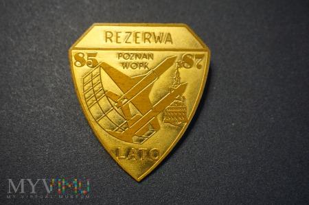 Odznaka Rezerwy Lato 85/87 WOPK z Poznania