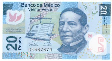 Meksyk - 20 pesos (2016)