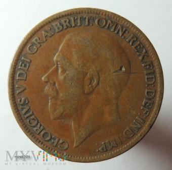 Moneta 1 Pens 1927 Jerzy V One Penny