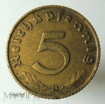 5 reichspfennig 1939 B