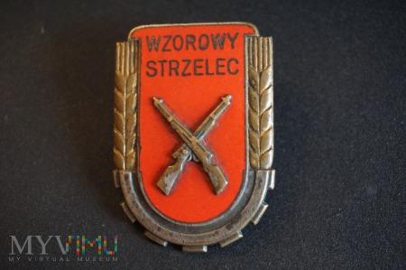 Odznaka Wzorowy Strzelec wzór1951 z Legitymacją