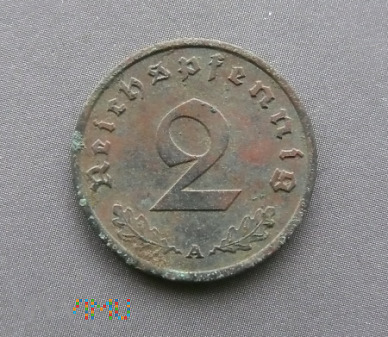 Duże zdjęcie 2 Reichspfennig 1939