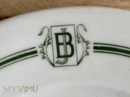 Talerzyk deserowy z monogramem JB