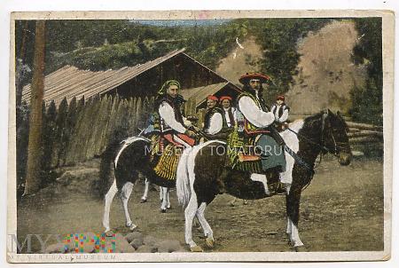 Huculi na koniach - 1917