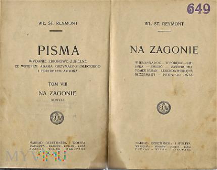 Książka z pismami Władysława Reymonta.
