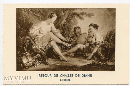 F. Boucher - Diana odpoczywa po polowaniu