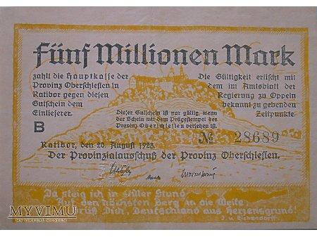 Pieniądz Zastępczy 5 000 000 Marek