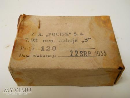 "Pudełko na amunicję 7.92. mm. ,,POCISK"" S.A."