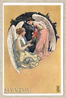 piękne anioły i nutcracker - dziadek do orzechów