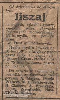 "Duże zdjęcie 10 ""Gazeta Toruńska - Codzienna"" lipiec 1914"
