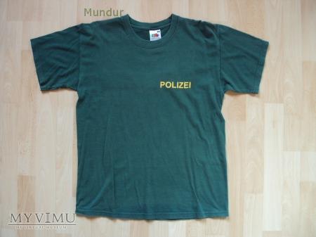 Polizei - zielona koszulka letnia.