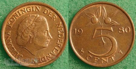 Holandia, 1980, 5 centów