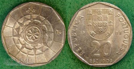 Portugalia, 20 ESCUDOS 1988