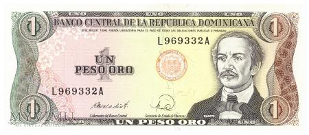 Dominikana - 1 peso oro (1988)