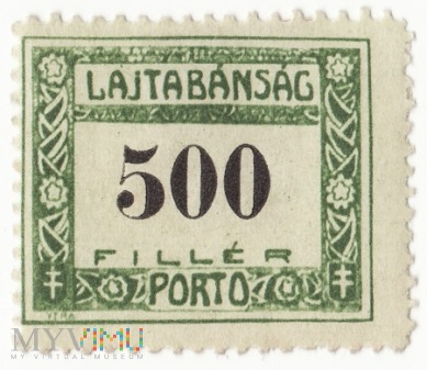 Węgry, 1921 LAJTABANSAG 500 PORTO