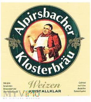 alpirsbacher klosterbräu weizen kristallklar