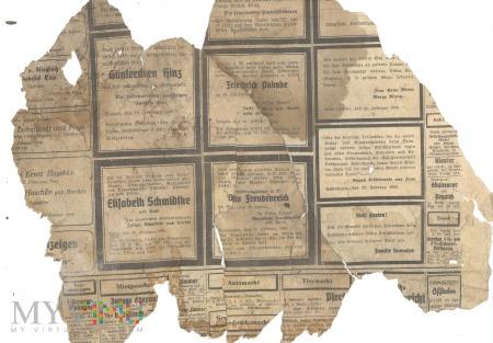 Duże zdjęcie 25 Nieznana niemiecka gazeta - luty 1940