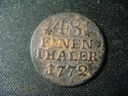 48 einen thaler, 1772, A