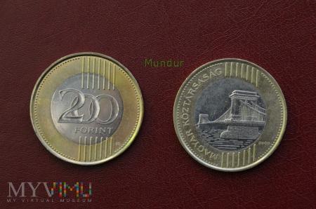 Duże zdjęcie Moneta węgierska: 200 forint