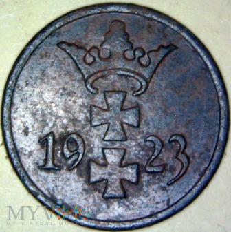 Wolne m. Gdańsk-1fenig gdański 1923r(1)