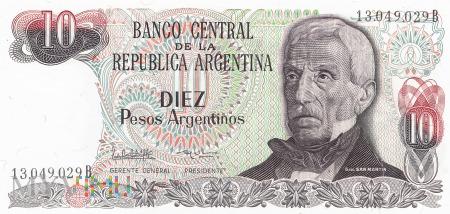 Argentyna - 10 pesos (1984)