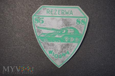 Odznaka Rezerwy Wojsk Pancernych - Wiosna 86/88