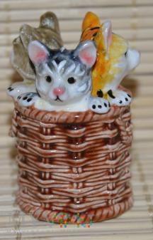 Naparstek koty w koszyku
