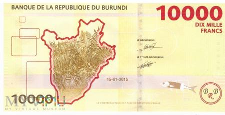 Burundi - 10 000 franków (2015)