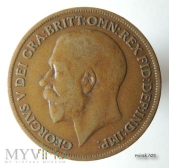Moneta 1 Pens 1920 Jerzy V One Penny