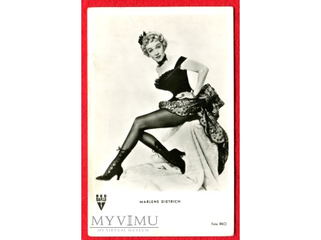 Duże zdjęcie Marlene Dietrich 1952 nogi, nogi, nogi