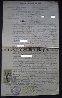 Akt Małżeństwa Prandocin 1933 rok