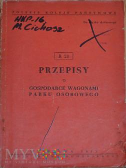 R28-1973 Przepisy o gospodarce wagonami osobowymi