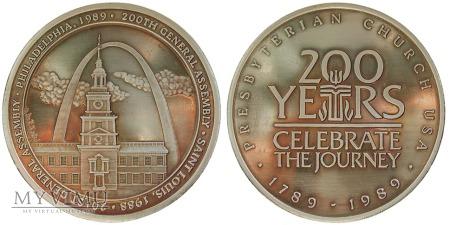200-lecie Kościoła Prezbiteriańskiego medal 1989