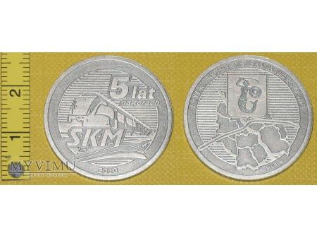 Medal kolejowy - przewozowy SKM w Warszawie