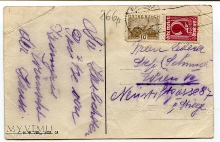 1932 Diabeł z rózgą KRAMPUS Austria życzenia rózga