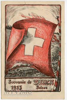 Duże zdjęcie Souvenir de ZURICK 1915 Svisse